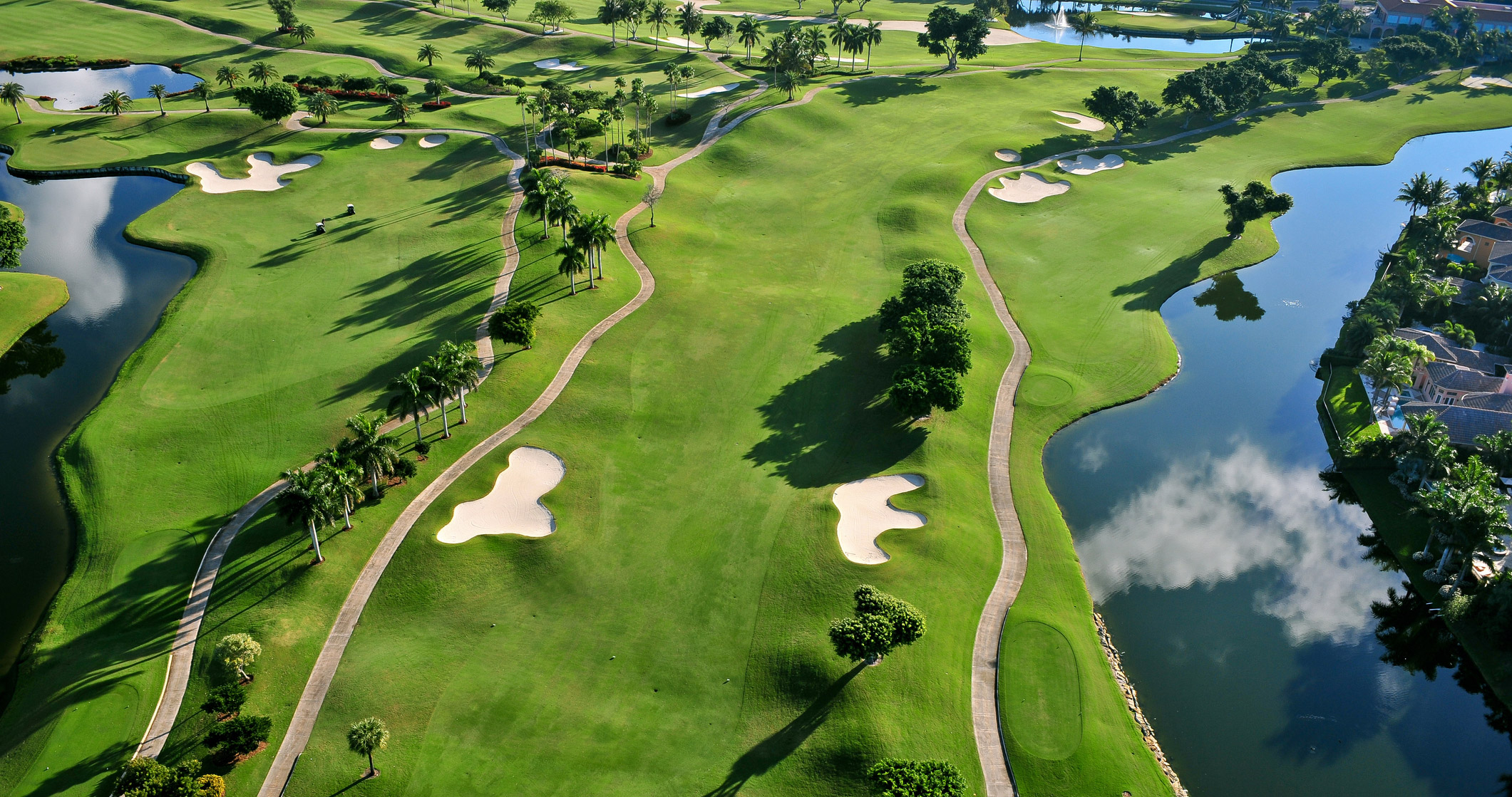 Overhead view of a golf course